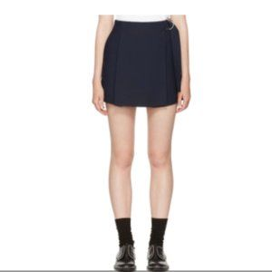 Carven Wrap Overlay Shorts Skirt Marine Navy Blue